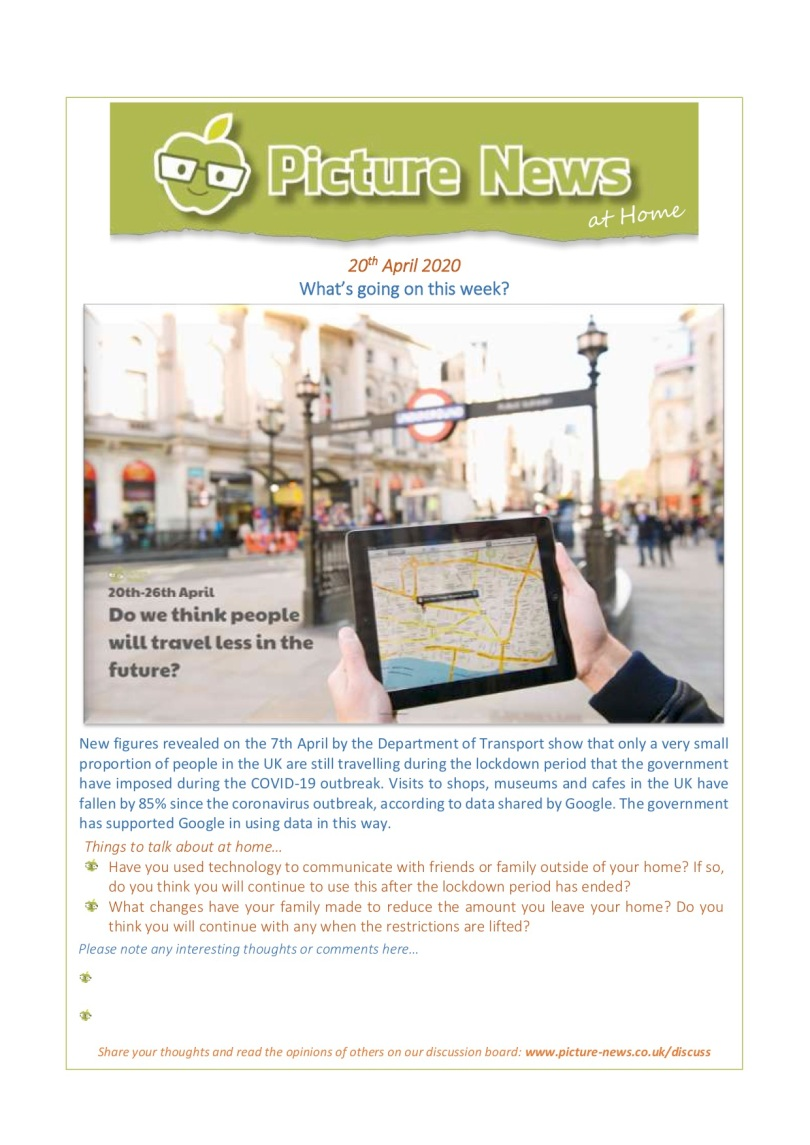 Picture News at Home - 20th April